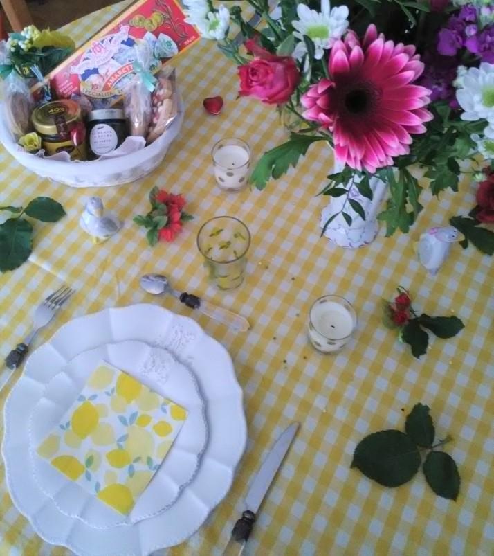 décoration table repas italien bouquet marks et spencer 7